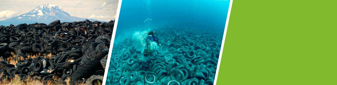 Переработка крупногабаритных шин